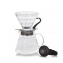 HARIO V60 Brygge Kit 02 i Klart Glass- Brewing kit fra Kaffemesteren